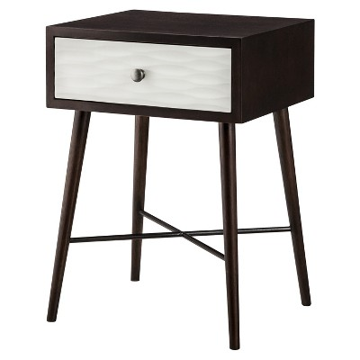 Modern Accent Table with Drawer Espresso/White - Threshold™