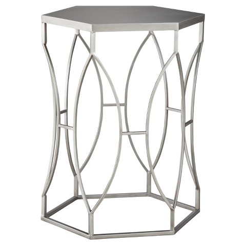 Threshold™ Metal Accent Table - Silver