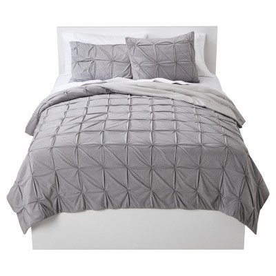 Jersey Reversible Quilt (Full/Queen) Sleek Gray - Room Essentials™