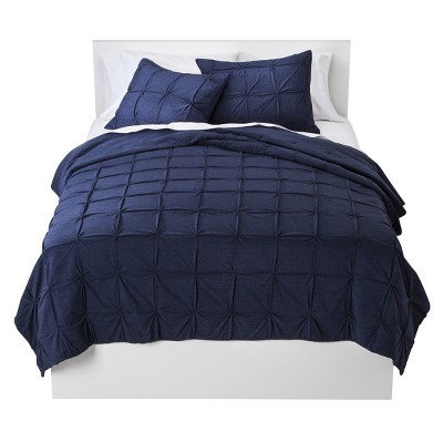 Room Essentials™ Jersey Reversible Quilt - Blue (Full/Queen)