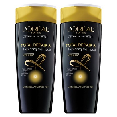 L'Oreal Paris Advanced Haircare Total Repair 5 Restoring Shampoo - 2 pack bundle - 25.2 oz