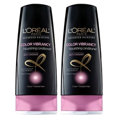 L'Oreal Paris Advanced Haircare Color Vibrancy Nourishing Conditioner - 2 pack bundle