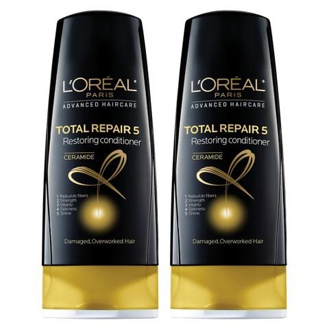 L'Oréal® Paris Advanced Haircare Total Repair 5 Restoring Conditioner - 2 pack bundle