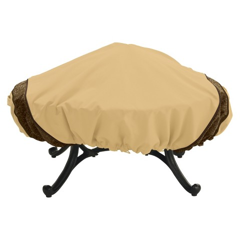 Veranda Elite Fire Pit Cover Pebble - Round