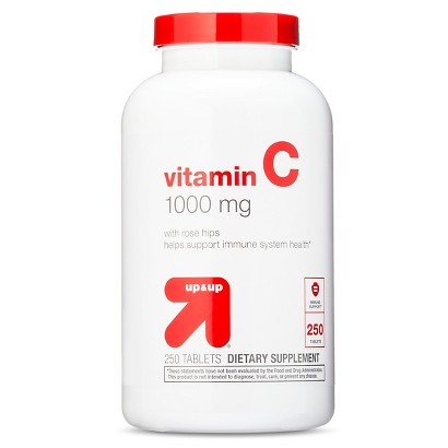up&up Vitamin C 1000 mg with Rose Hips Tablets