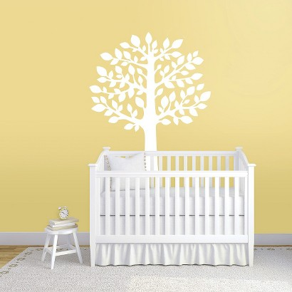 wall decal white tree product details page