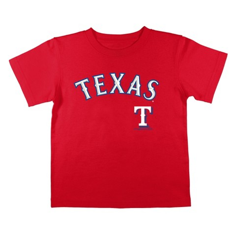 Texas Rangers Boys Tee Red
