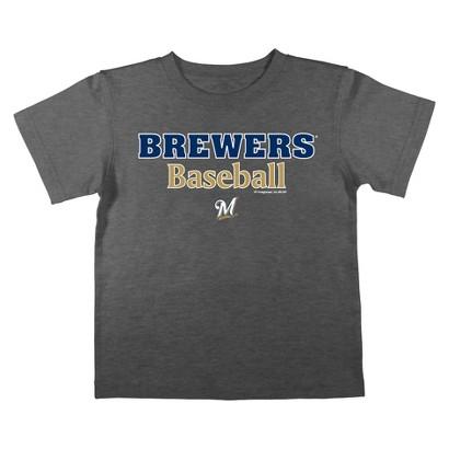 MLB Boys Tee Milwaukee Brewers Black