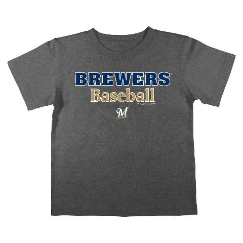 Milwaukee Brewers Boys Tee Black