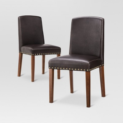 Lennox Dining Chair - Brown (Set of 2) - Threshold™