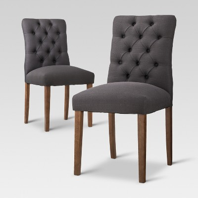 Brookline Tufted Dining Chair - Charcoal (Set of 2) - Threshold™