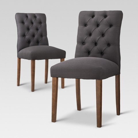 Brookline tufted dining chair set of 2 thresh target - Tufted dining room chairs ...