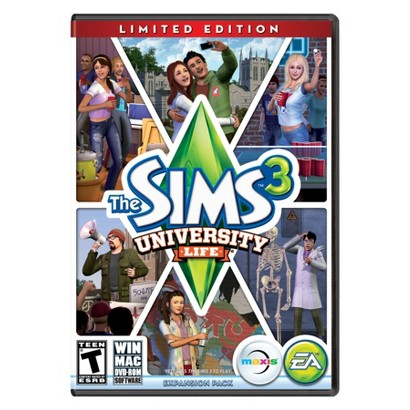 PC Game The Sims 3 University Life