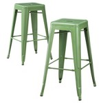 "Carlisle Metal 29.5"" Barstool Set of 2"