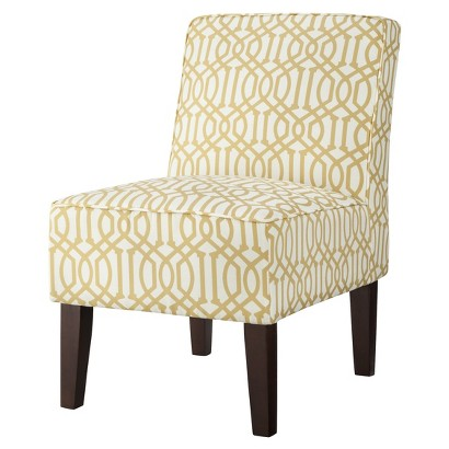 Threshold™ Slipper Chair - Yellow/White Trellis