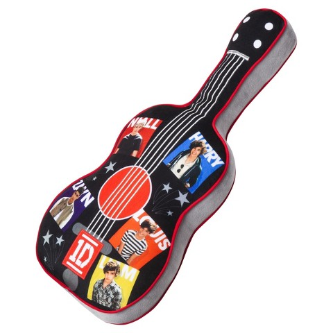 One Direction Pillow Buddy - Black Guitar
