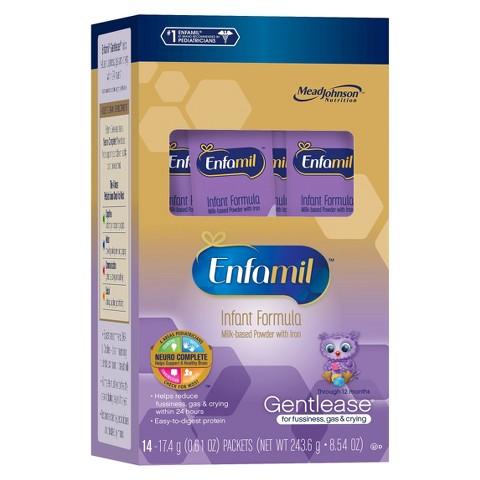 Enfamil Gentlease Infant Formula 14 Single Serve Packets (4pack)