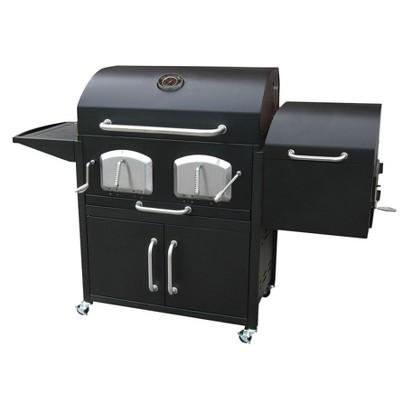 Landmann Bravo Charcoal Grill with Smoker - Black