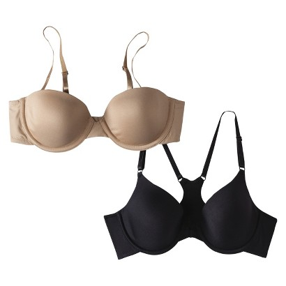 Self Expressions® by Maidenform® Women's Convertible Racerback/Strapless Bras 5562 2-Pack