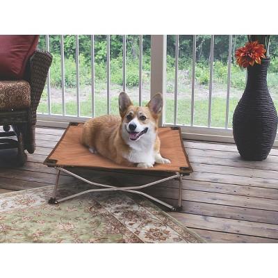 ECOM Carlson Portable Pup Travel Bed - Brown (Small)