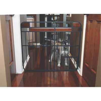 Design Studio Expandable Pet Gate - Black (Large)