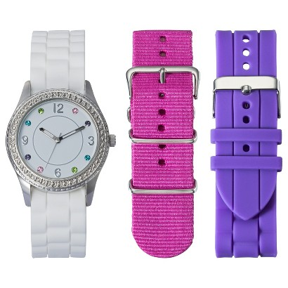 Xhilaration® Watch Set With Silicone Straps - Multicolor