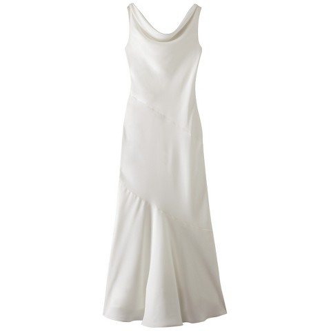 Women's Soft Satin Cowl Neck Bridal Gown - Assorted Colors - TEVOLIO&#153