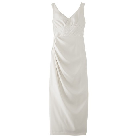 Women's Soft Satin Rouched Bridal Gown - Assorted Colors - TEVOLIO&#153