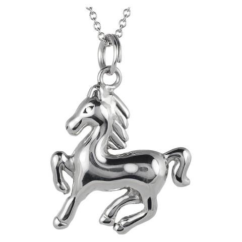 Tressa Sterling Silver Horse Pendant - Silver