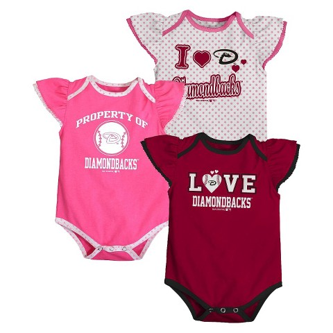MLB 3 Pk BODYSUIT Girls Dmnd