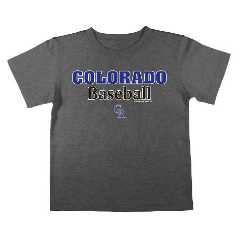 Colorado Rockies Boys Tee Black