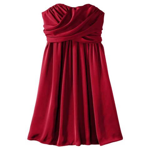 Women's Satin Strapless Bridesmaid Bridesmaid Dress Limited Availability Colors - TEVOLIO&#153