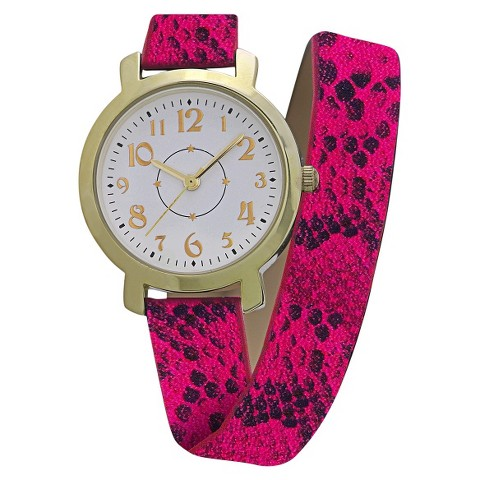Women's Xhilaration® Snake Strap with White Dial Watch - Pink