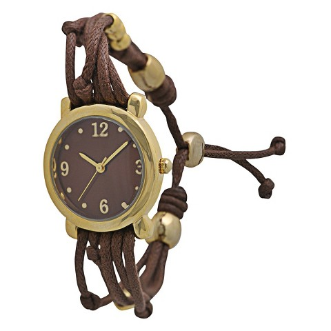 Women's Xhilaration® String and Charms Watch - Brown