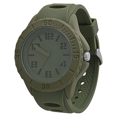 Men's Mossimo Black® Rubber Strap Watch - Army Green