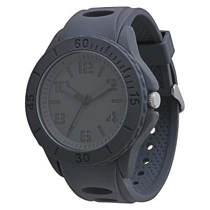 Men's Mossimo Black® Rubber Strap Watch - Gray