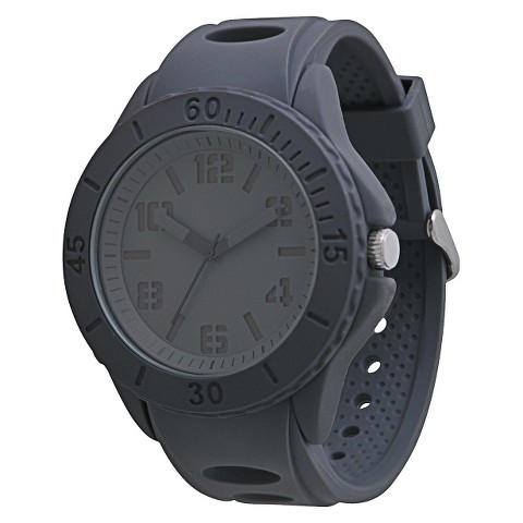 Men's Mossimo Black® Rubber Strap Watch - Gray