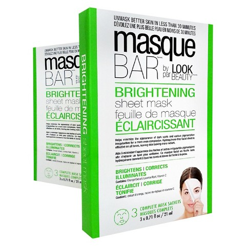 Masque Bar by Look Beauty Brightening Sheet Mask 3ct