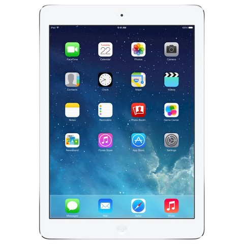 Apple® iPad Air 32GB Wi-Fi + Cellular (Verizon) - Silver/White (MF532LL/B)