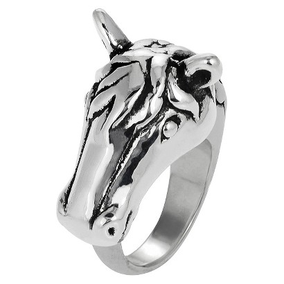 Sterling Silver Horse Ring - Silver