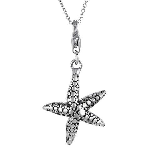 Tressa Sterling Silver Starfish Pendant - Silver