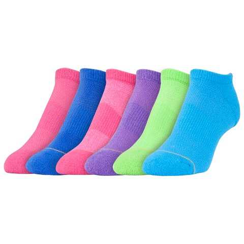 All Pro® Women's 6-Pack AquaFx No Show Athletic Socks - Solid Fashion Colors 9-11