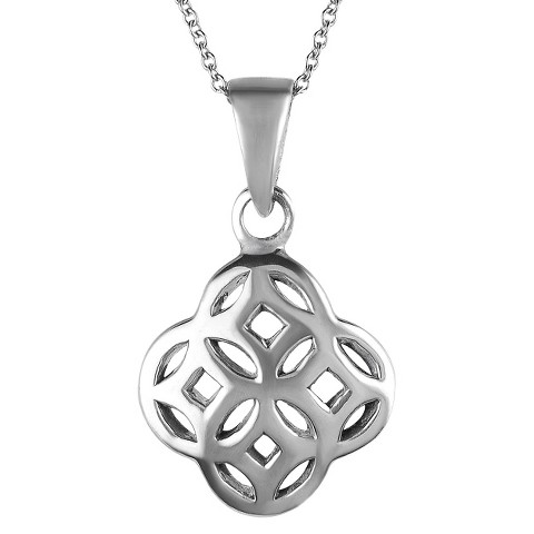 Tressa Sterling Silver Celtic Unity Knot Pendant - Silver