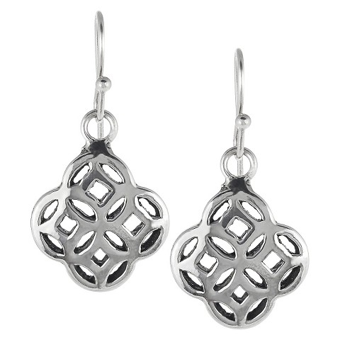 Tressa Sterling Silver Celtic Unity Knot Dangle Earrings - Silver