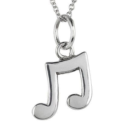Tressa Sterling Silver Musical Note Pendant - Silver