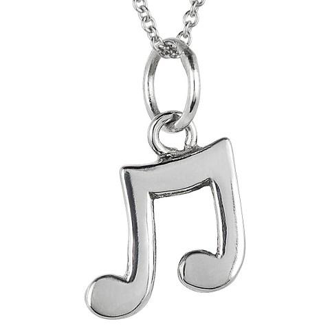 Tressa Sterling Silver Musical Note Pendant - Silver