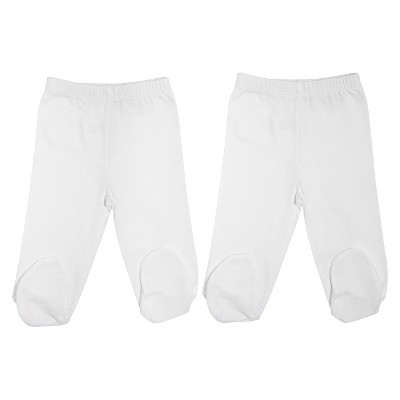 Burt's Bees Baby Newborn Organic 2 Pack Footed Pant Set - Cloud 3-6 M