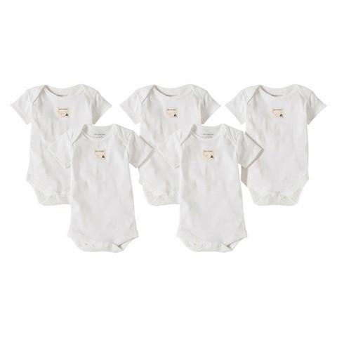 Burts Bees Baby™ Newborn Neutral 5 pack Short-sleeve Bodysuit