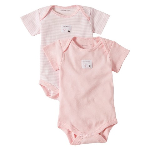 Burts Bees Baby™ Newborn Girls' 2 Pack Short-sleeve Bodysuit - Blossom