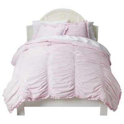 Ruched Comforter Set (Full/Queen) Pink 3pc - Simply Shabby Chic™